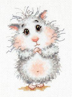 Cross Stitch Kit Buy hamster, please!
