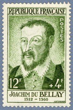 Joachim Du Bellay est un poète français né vers 1522 à Liré en Anjou et mort le 1er janvier 1560 à Paris. Sa rencontre avec Pierre de Ronsard fut à l'origine de la formation de la Pléiade, groupe de poètes pour lequel du Bellay rédigea un manifeste, la Défense et illustration de la langue française. Son œuvre la plus célèbre, Les Regrets, est un recueil de sonnets d'inspiration élégiaque et satirique, écrit à l'occasion de son voyage à Rome de 1553 à 1557. Dʹaprès Wikipédia