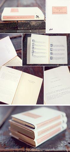 hardcover book wedding invitations.