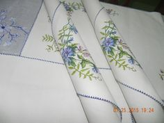 Placemats....fine embroidery