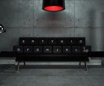 QWERTY Keyboard Sofa Bed by ZO Loft