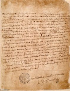 Love letter from Henry VIII to Anne Bolyen