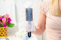Did you know dryer sheets can make your life easier well beyond the laundry room? Check out the best dryer sheet hacks out there. Bounce Sheets, Dryer Sheet Hacks, Uses For Dryer Sheets, Clean Hairbrush, Diy Makeup Remover, Static Hair, Baby Closet Organization, Makeup Organization, Storage Organization
