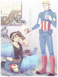 """""""Coffee Break"""" by j000000. OH GOD SO CUTE. *dies*"""