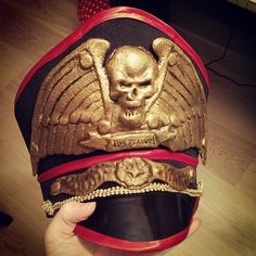 allthingswarhammer:  Description: Commissar Hat from Warhammer 40k. Commission job I finished this week #commissar #warhammer #warhammer40k #hat Author: chrixdesign on Instagram Source: http://gbp24.me/1qM52eB Date: November 16, 2014 at 11:24AM
