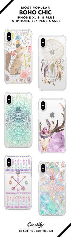 Most popular boho chic iPhone X, iPhone 8, iPhone 8 Plus, iPhone 7 and iPhone 7 Plus case. - Shop them here ☝️☝️☝️ BEAUTIFUL BUT TOUGH ✨  - boho, boho art, mandala art, pattern art, pastel art