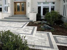 Front entry walkway ideas front entry steps design house entrance for shake homes ideas stairs pictures . Porch Landscaping, Porch Steps, House Entrance, House Front, House Exterior, Patio Design, Front Entrance Decor, Driveway Design, House Landscape