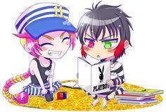 Nanbaka_Uno and Jyugo (chibi) by ScarletIlustration on DeviantArt