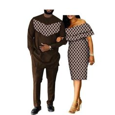 2018 spring casual couple suit AFRIPRIDE men's full length long shirt+pants and butterfly sleeve knee-length women dress African Wear Styles For Men, African Shirts For Men, African Attire For Men, African Clothing For Men, African Suits, Short African Dresses, Latest African Fashion Dresses, African Men Fashion, Ladies Fashion