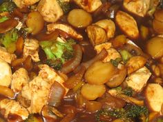 All the ingredients can be adjusted to suit taste. If you like spicy then add in about 1 teaspoon or more dried red pepper flakes. Can use either red or green bell pepper or use both, and 1 teaspoon fresh minced ginger can be replaced with the dry ginger.