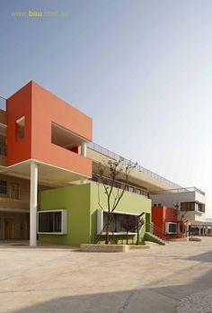 Gallery of Jiangyin Primary & Secondary School / BAU Brearley Architects + Urbanists - 5 Education Architecture, Space Architecture, School Architecture, Architecture Sketchbook, Secondary School, Primary School, Elementary Schools, School Building Design, School Design