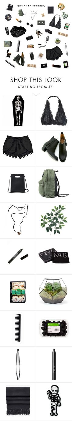 """""""i light her like dynamite."""" by nostalgicteen ❤ liked on Polyvore featuring Boohoo, Gargyle, Baccarat, NYX, NARS Cosmetics, GHD, OXO, Acne Studios, H&M and The Case Factory"""