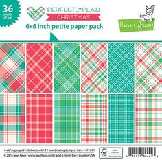 """LAWN FAWN: Perfectly Plaid Christmas 6"""" x 6"""" Petite Paper Pad"""