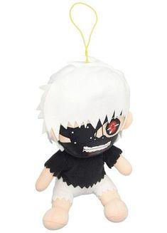 Ken Keneki plush doll from the anime and manga series Tokyo Ghoul. 8 inches of cold, brutal, and ruthless plushie. Fruits Basket Kyo, Kaneki, Plush Dolls, Tokyo Ghoul, Plushies, Thrifting, Hello Kitty, Cold, Manga