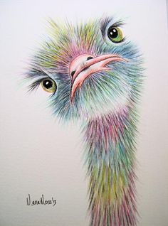 """ostrich"" by Maria Moss"