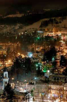 Krynica-Zdroj #Night lights #Poland