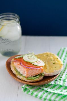 Roasted Salmon Sandwich with Garlic Chive Aioli | Annie's Eats by annieseats, via Flickr