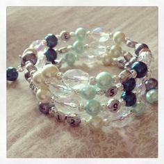 FREE SHIPPING Lovely Glass Bead Nursing Bracelet by PrairieDustInc, $35.00 Mom Jewelry, Jewelry Shop, Faceted Glass, Glass Beads, Aqua, Teal, Nursing, Maternity, Beaded Bracelets