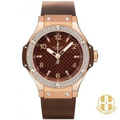 Hublot Big Bang Cappuccino Rosegold With Diamonds Ladies Watches UAE