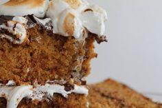 Smitten Kitchen graham-cracker cake (top w/ cream cheese frosting)