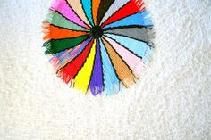 Vintage Psychedelic Color Wheel Knit Throw from PsychicCeremonies