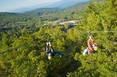 Bucket List: A 1.5 mile zipline adventure on the longest zip line canopy tour in the Continental United States! ZipTour Zip Lines at Gunstock Mountain Adventure Park