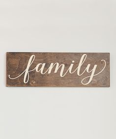 Look at this Cream 'Family' Wall Sign on #zulily today!