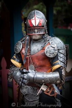 knight in armor at the colorado renaissance festival