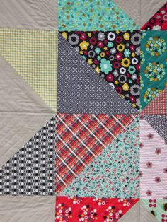 chezzetcook modern quilts: Giant Star: A Finish