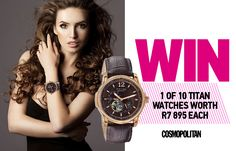 WIN 1 of 10 Titan Automatic Watches Worth 895 Each Automatic Watch, Cosmopolitan, Michael Kors Watch, Meet, The Incredibles, Watches, Magazines, How To Wear, Fashion