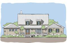 Saltwater Rest — Flatfish Island Designs — Coastal Home Plans