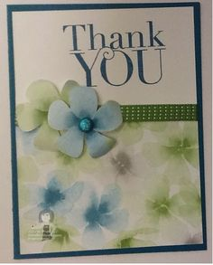I seriously love the Stampin' Up! Watercolor Wonder Designer Series Paper available in their Occasions Catalog!