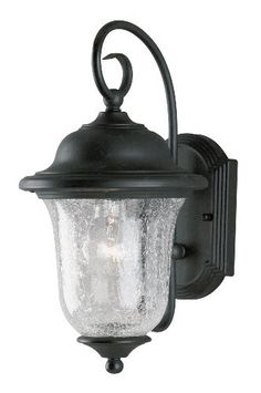 Outdoor Wall Mount Light 18-in H Black Coral B10-Shape Candelabra-Base Lantern