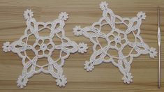 Вязание СНЕЖИНКИ крючком  How to crochet snowflake Crochet Snowflake Pattern, Crochet Snowflakes, Crochet Motifs, Sampler Quilts, Needlework, Crochet Earrings, Jewelry, Holidays, Patterns