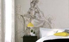 Tête de lit en papier peint - Papiers de Paris