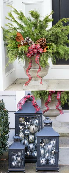 Decorate the outside of your home for the holidays in no time.