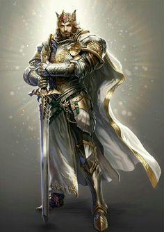 Human Paladin King - Pathfinder PFRPG DND D&D d20 fantasy