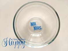 Simple Ring Dish for Jewelry Minimalist Mr. & Mrs. by HappyTessa
