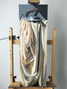 oil on cradled panel original still life by artist Lorn Curry www.lorncurr… oil on cradled panel original still. Painting Still Life, Still Life Art, Hyper Realistic Paintings, Painting Inspiration, Amazing Art, Cool Art, Art Drawings, Contemporary Art, Drapery