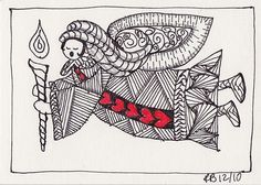 zentangle christmas cards - Google Search