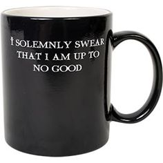 "The world of Harry Potter comes alive with this ""I Solemnly Swear.Mischief Managed"" Transforming Thermal Mug. Fill this magical mug up with the hot and it turns from ""I Solemnly Swear That I Am Up To No Good"" to ""Mischief Managed. Just Love, Just In Case, Just For You, Geeks, Movies Quotes, Funny Quotes, Life Quotes, Must Be A Weasley, E Mc2"