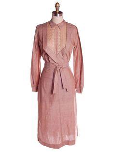 Vintage Mocha Cotton 3 Pc Dress Maison France 1940s 2-4 – The Best Vintage Clothing