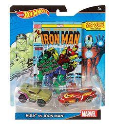 Hot Wheels Marvel Hulk vs. Iron Man Character Car 2-Pack ... http://www.amazon.com/dp/B015ERMWH2/ref=cm_sw_r_pi_dp_hYYqxb04E8W6T