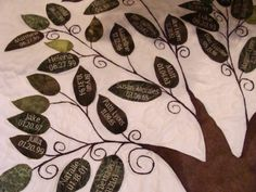 Family Tree Christmas Tree Skirt by SQQuilter on Etsy, $140.00