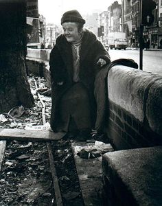 Moyra Peralta in Spitalfields.  Pauline in Whitechapel, eighties.