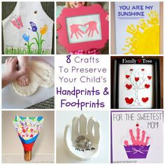8 Crafts To Preserve Your Child's Handprints & Footprints