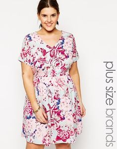 #sanscomplexe #flower #mode #fashion #Asos #Curve #dress