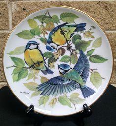 Blaumeise Blue Titmouse Bird Plate - by Ursula Band - Euroaische Singvogel…