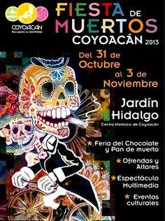 Cartel de la Fiesta de los Muertos, Coyoacán 2013