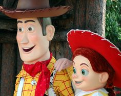 Woody and Jessie from Toy Story; 2005